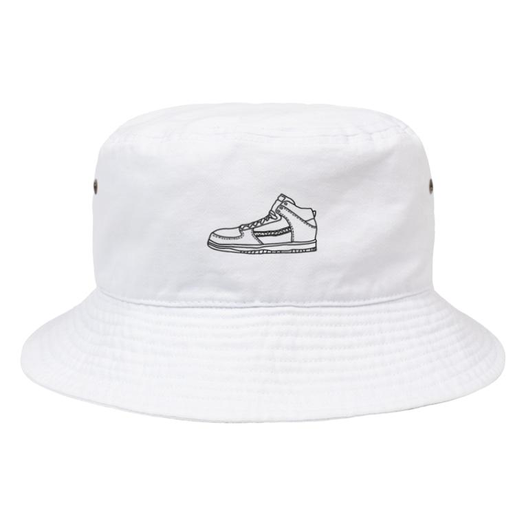 YTRの落書き風スニーカー Bucket Hat