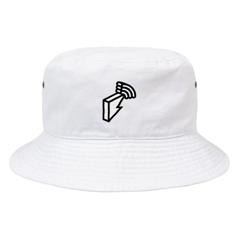 block.fmのblock.fmオフィシャルモノトーンロゴグッズ Bucket Hat