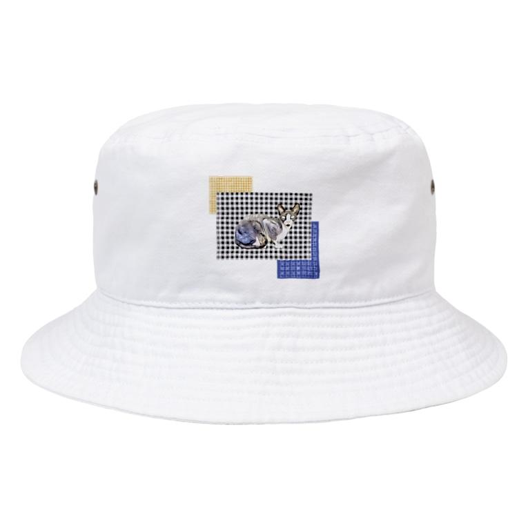 Fios shopのギンガムチェックスフィンクス Bucket Hat