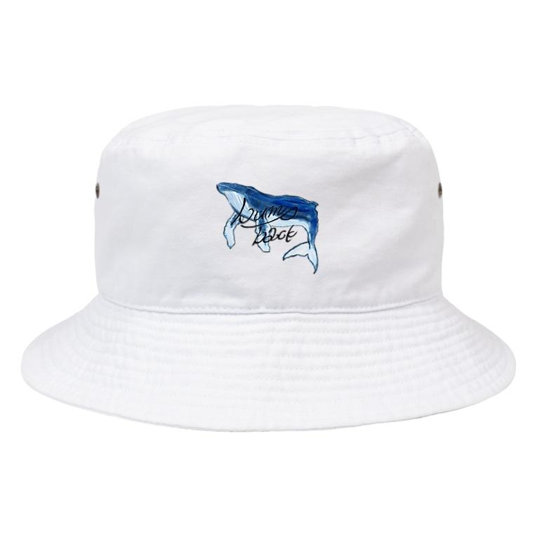 ナミノウエのhump back whale Bucket Hat