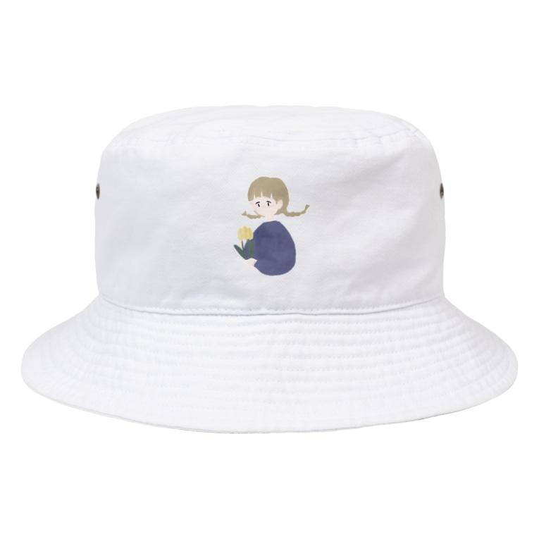 你好 - ニーハオ −のチューリップガール Bucket Hat