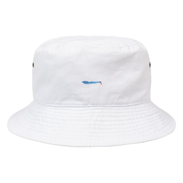 きたぽよグッズショップ【ぽよ劇場のグッズ屋さん】のにぼしのにぼグッズ Bucket Hat