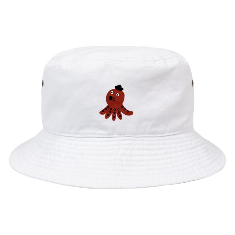 イザワメイのオンラインショップのタコさん Bucket Hat