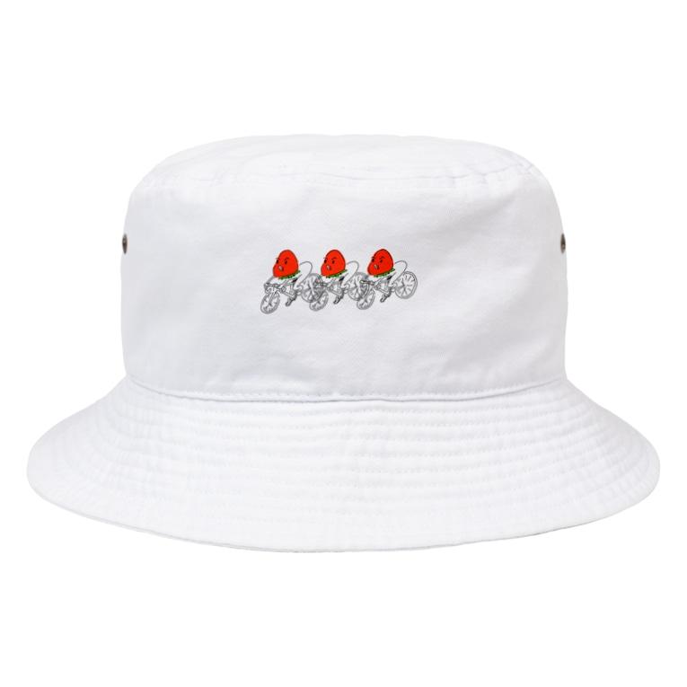 Mylily55のいちごチャリ Bucket Hat