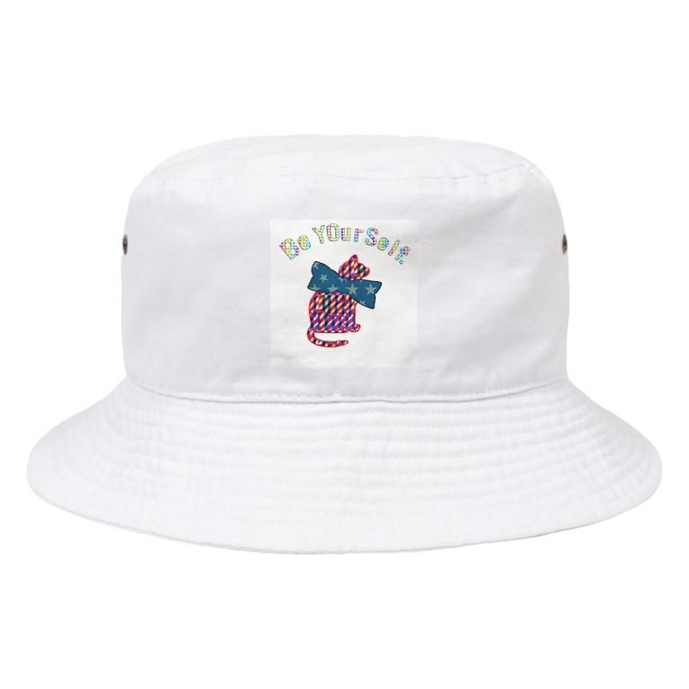 lifejourneycolorfulの猫 Bucket Hat