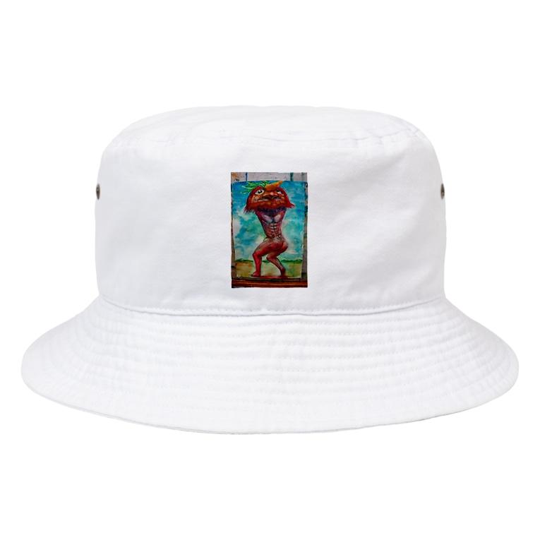 UKK.incの俺が考えた鬼 Bucket Hat