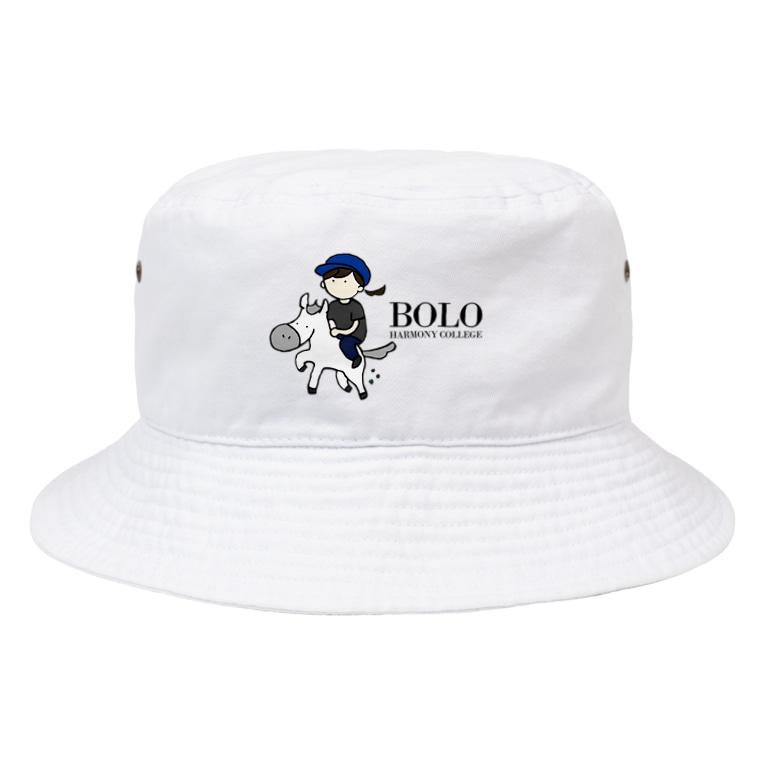 HarmonyCollege_Osyan-T-shirtのBOLOGIRL(kuro) Bucket Hat