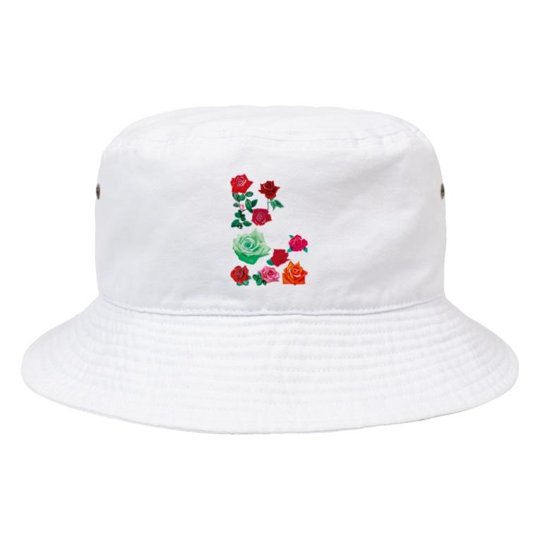KAERUCAFE SHOPのバラ Bucket Hat