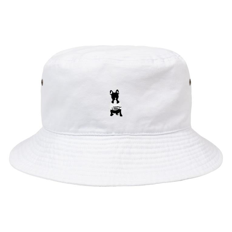 ioocoの▷sit/white Bucket Hat