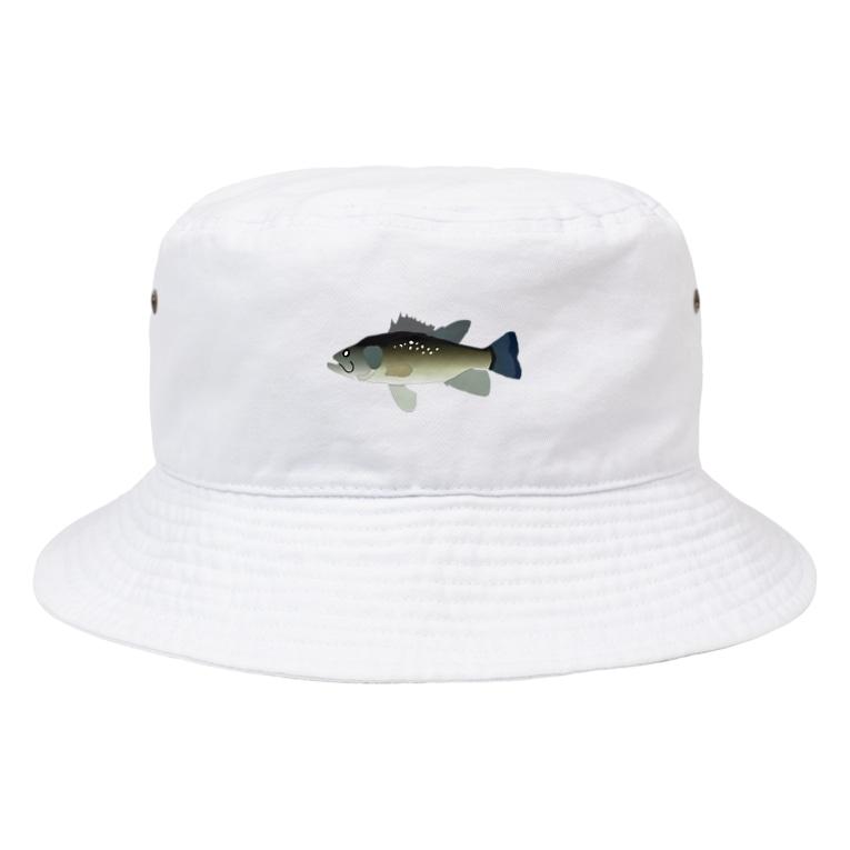 MOBのブラックバス Bucket Hat