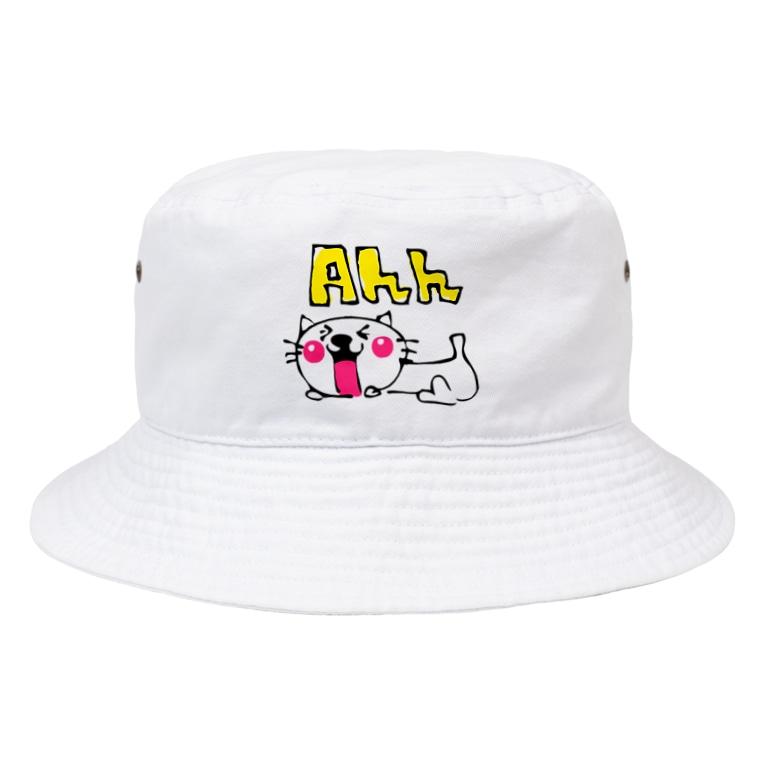 matsukingのAhh ネコちゃんグッズ Bucket Hat
