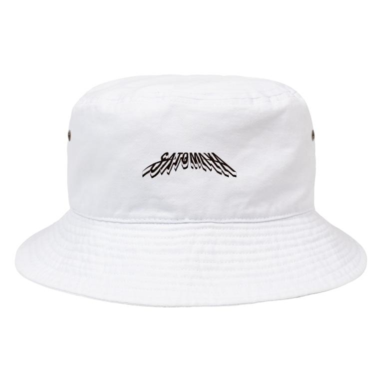 """オートレースモバイル     佐藤摩弥オフィシャルグッズの""""SATOMAYA""""ロゴハットB Bucket Hat"""