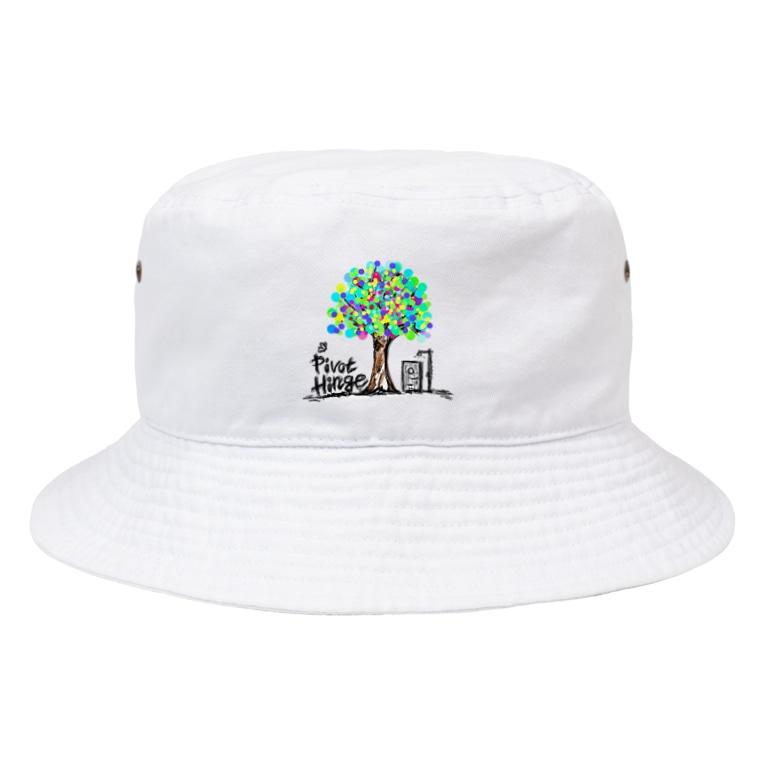 PivotHingeのBucketHat(White)/PivotHinge (7) Bucket Hat
