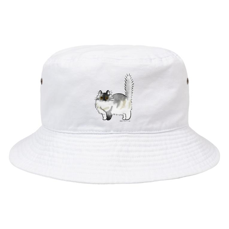 dahlia shop SUZURIのコロン (正面のみ) Bucket Hat