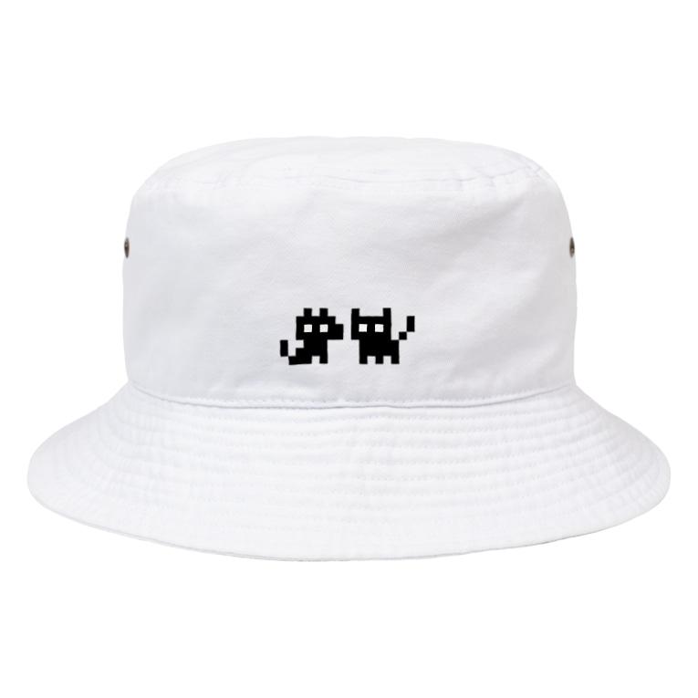 智叉猫のINUNEKOしろいろ Bucket Hat