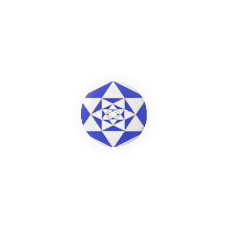 ことばの丘グッズショップの缶バッジ(32mm) 幾何学模様1 Badges