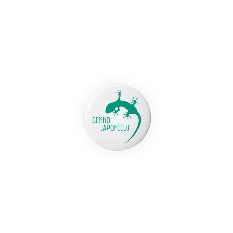 motchamのヤモリ シルエット ロゴ ( ターコイズグリーン ) Badges