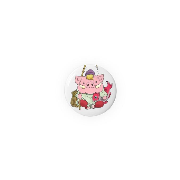 王子チャンネルのなごみくんカンバッチ(恵比寿)  Badges