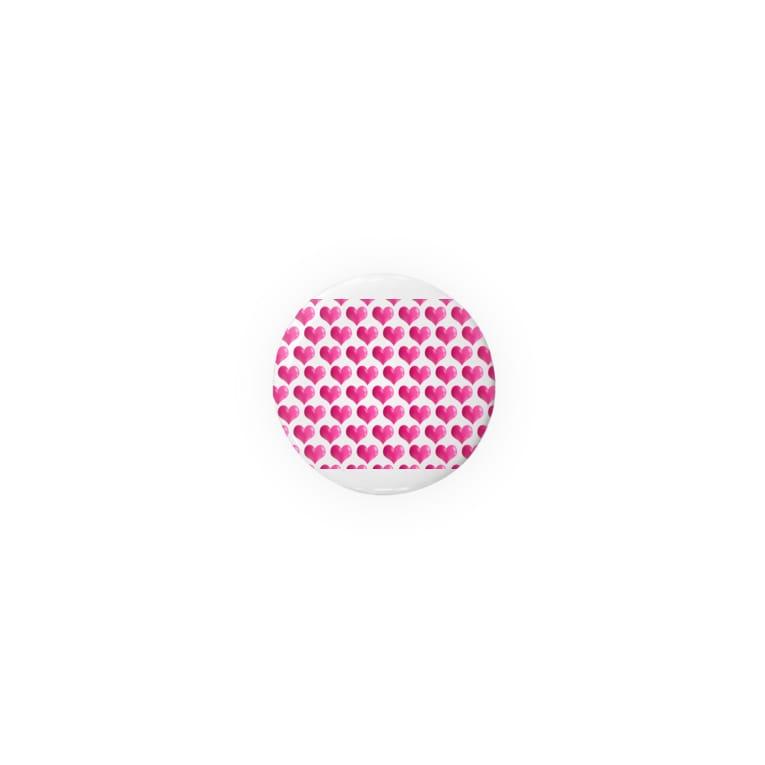 kana design factoryの3Dハートのかわいいパターン Badges