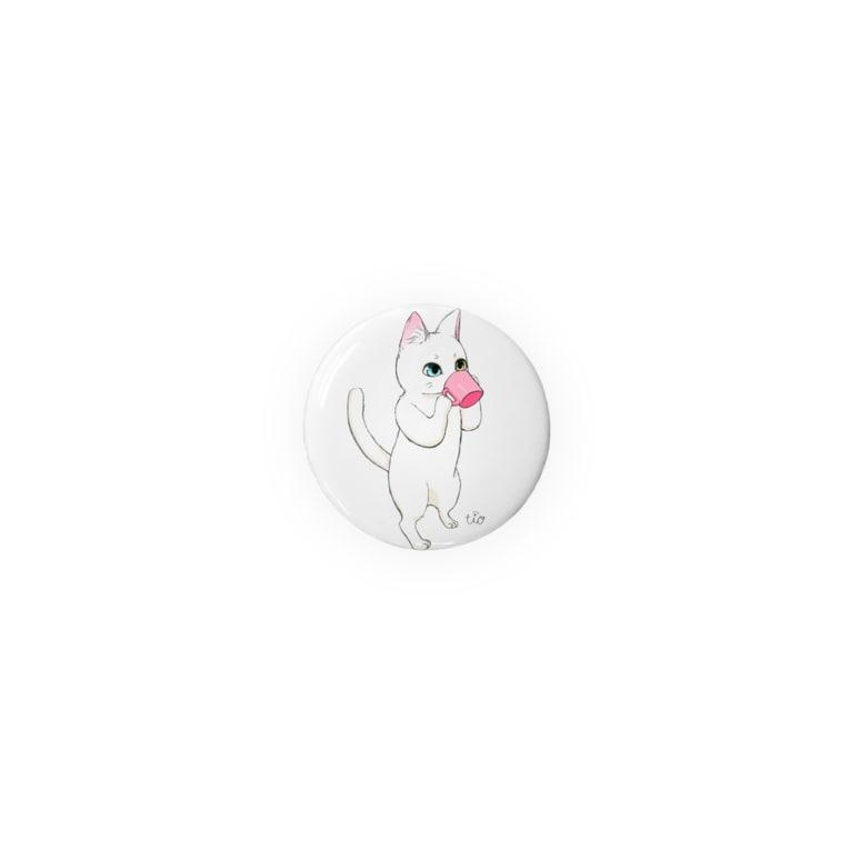 Tio Heartilのコップ猫ちゃん Badge