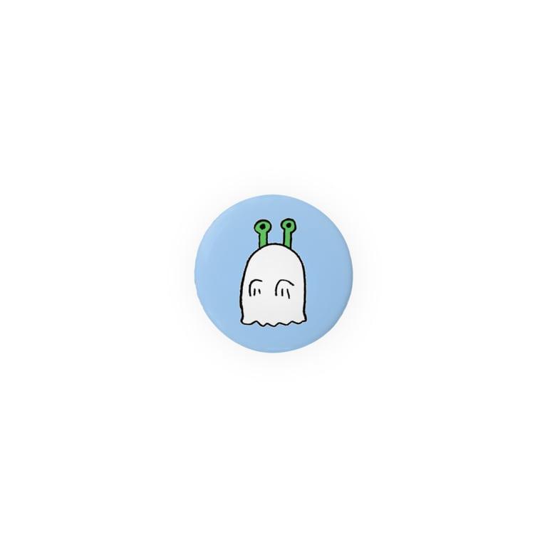 宇宙人 ミドリちゃんグッズのお店のミドリちゃん おばけバッヂ 水色 Badge