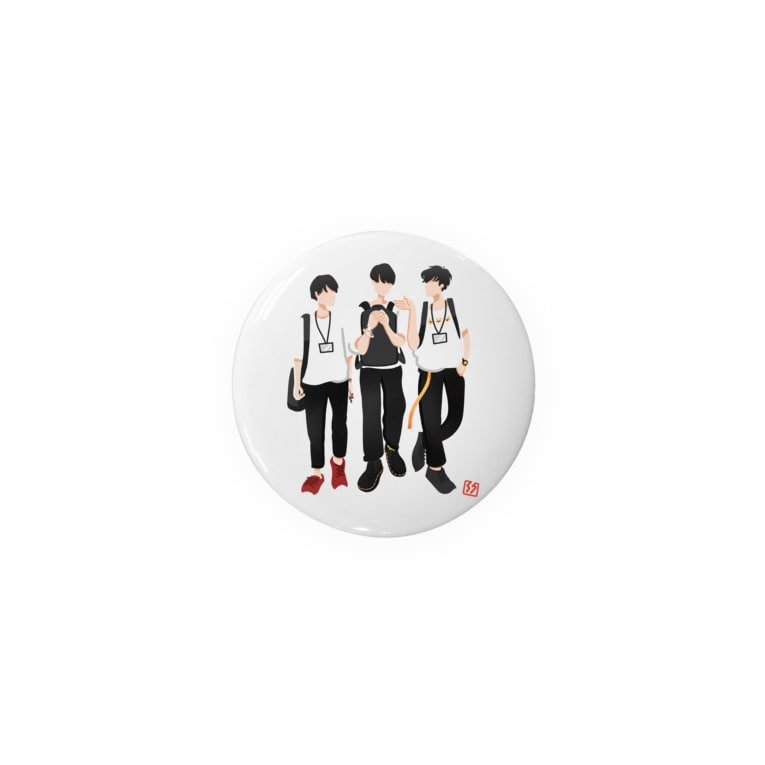 Hs0202ShonのAM11:00 3 boys Badges