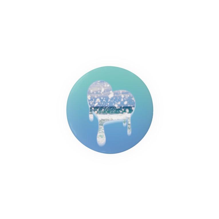 ぐんじさんの。のmelting heart, summer - 03 Tin Badge