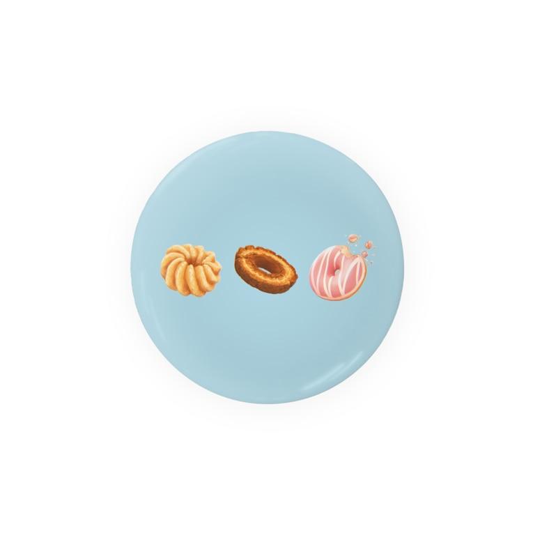薄茶糖の【sweets】ドーナツ-青 Badges