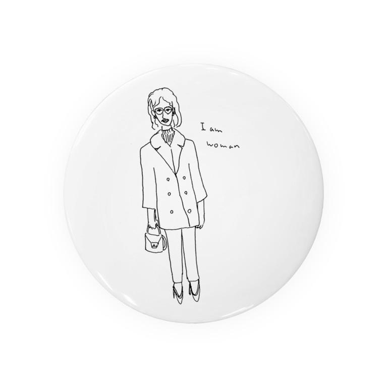 ミュンゼルアンジュのI am woman レトロガール Badges