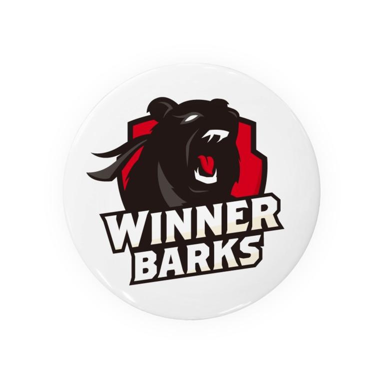 WinnerBarks Ent.のWinnerBarksチームロゴ Tin Badge