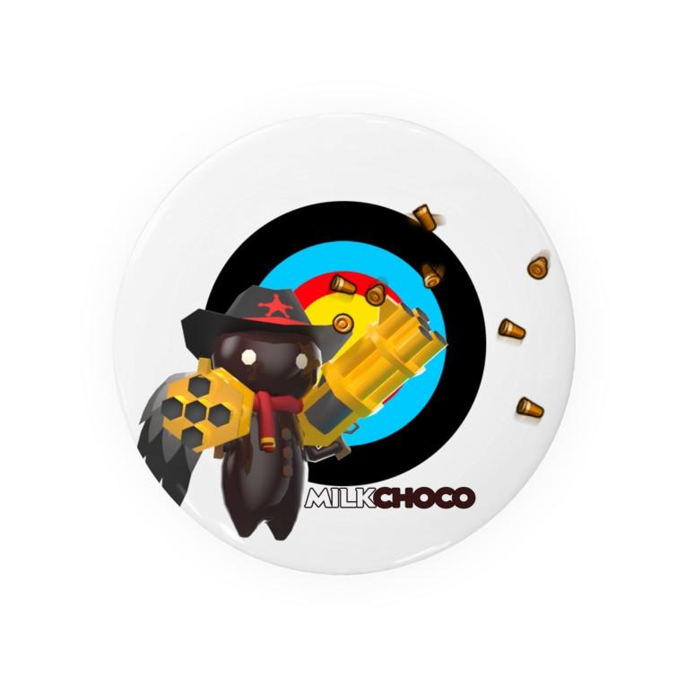 PACkageオフィシャルのミルクチョコグッズキャラクター Badges