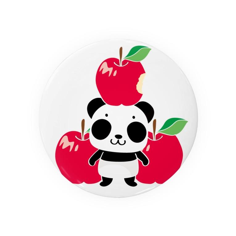 *suzuriDeMonyaa.tag*のズレてもぱんだズレぱんだちゃんのリンゴ食べたの誰?Bタイプ Badges