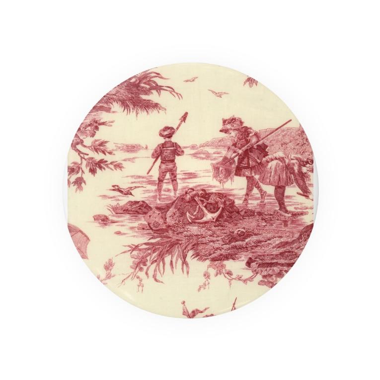 J. Jeffery Print Galleryのトワルドジュイ Toile de Jouy Badges