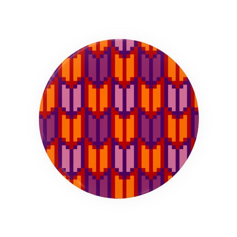 コトブキヒサシ/寿寿のドット(矢絣) Badges