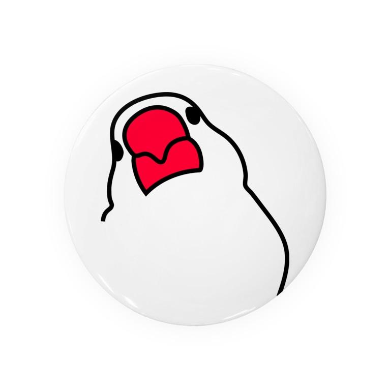 文鳥'sの文鳥缶バッジ Badge
