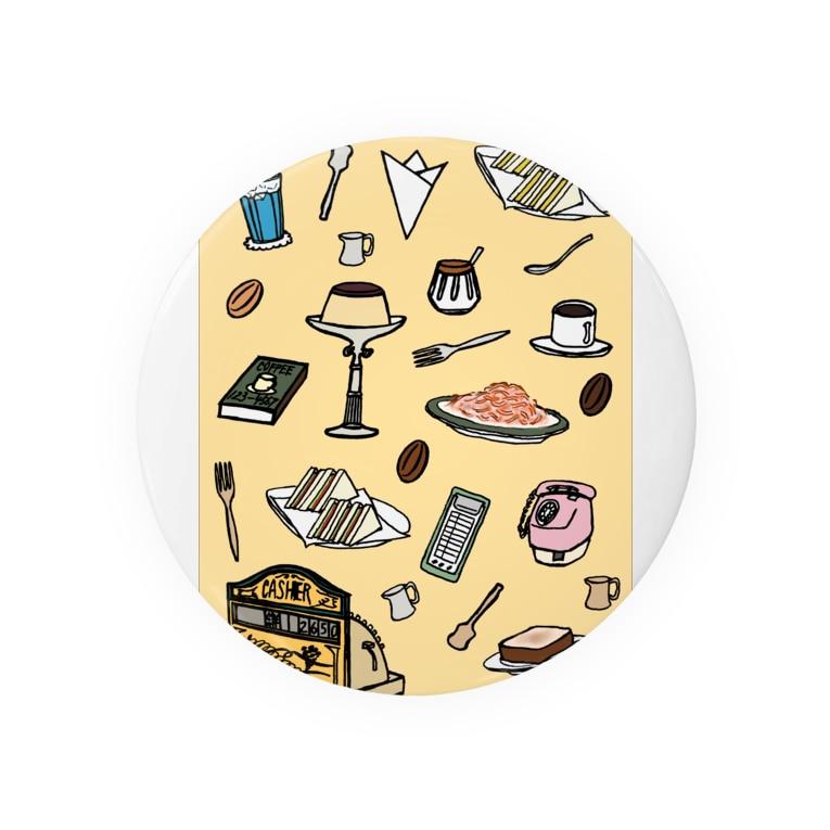 気ままに創作 よろず堂の純喫茶 いろどり 背景つき Badges