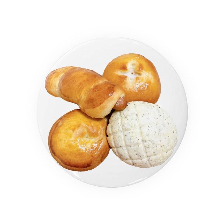 minoriとぺんぎんたちの焼き立てパン4種 Badges