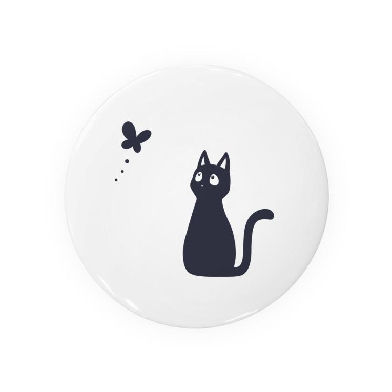 もずくろショップの蝶と黒猫 Badges
