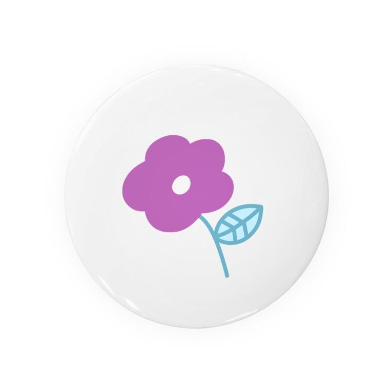 pajamaのむらさき色のお花 Badges