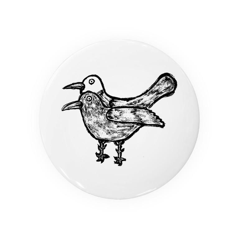 illust_designs_labの疫病退散!版画風のヨゲンノトリのイラスト Badges