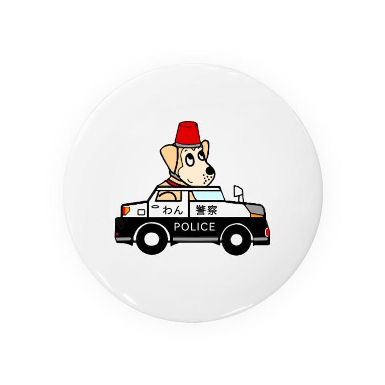 雑種犬まるちゃん++のまるちゃんのあいてむ パトカー Badges
