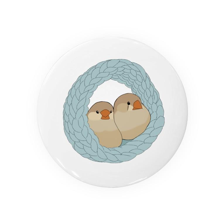 鳥のなる木のキンカは液体 ブルー Badges