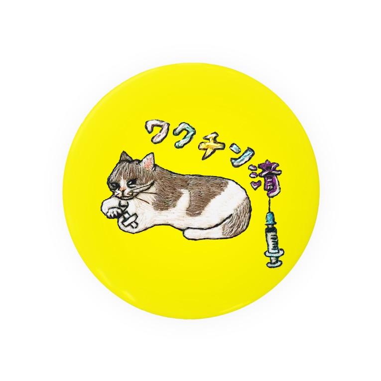 にゃん吉ドーナツのワクチン済 ハチワレ猫 Tin Badge