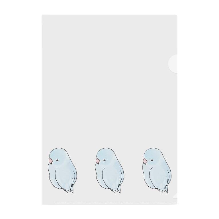 まめるりはことりの可愛いアメリカンホワイト マメルリハちゃん【まめるりはことり】 Clear File Folder
