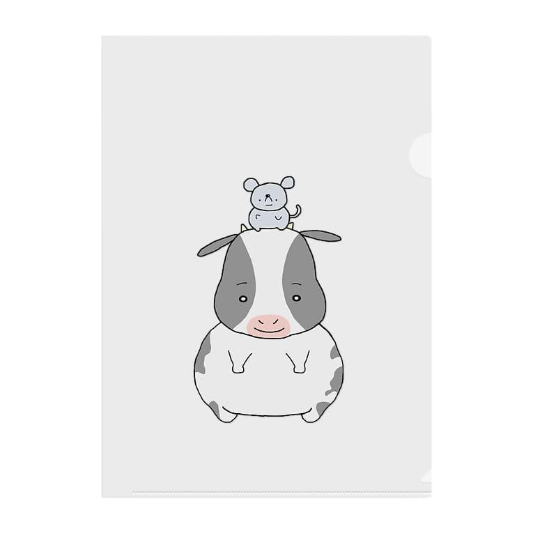 TSUNETANのネズミとウシ Clear File Folder