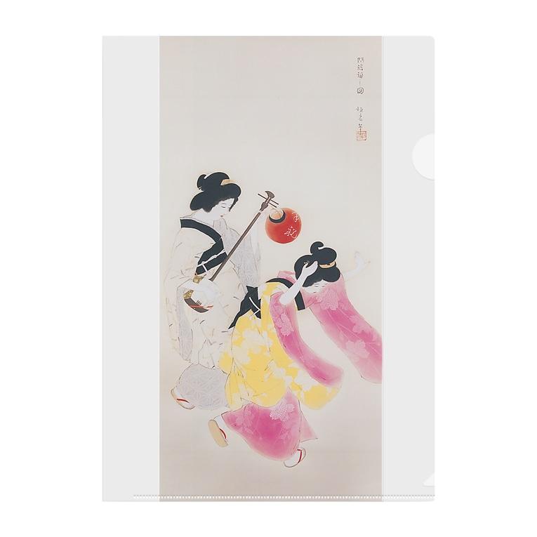 世界の絵画アートグッズの北野恒富《阿波踊》 Clear File Folder