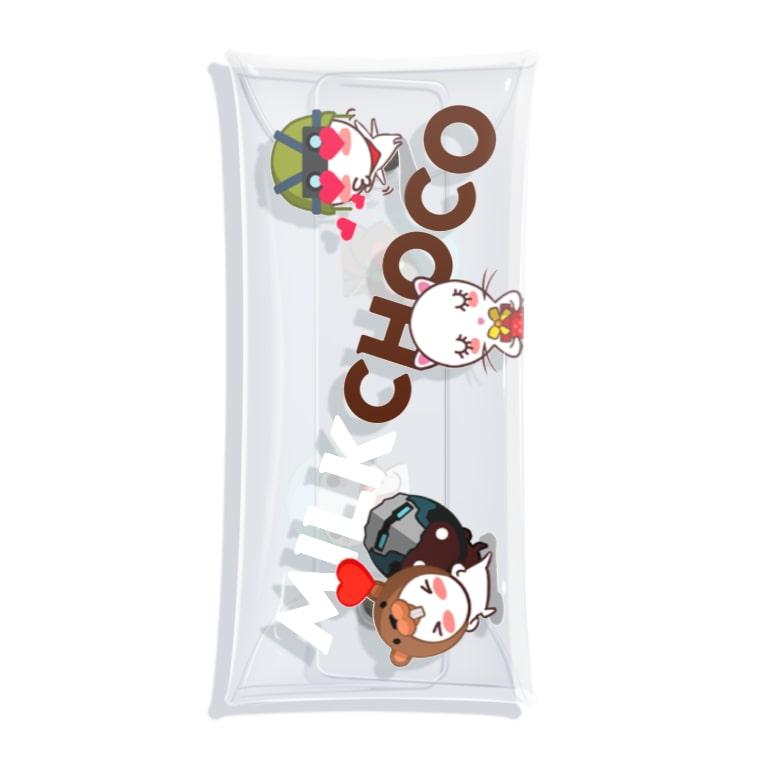 PACkageオフィシャルのミルクチョコ ラブリー Clear Multipurpose Case
