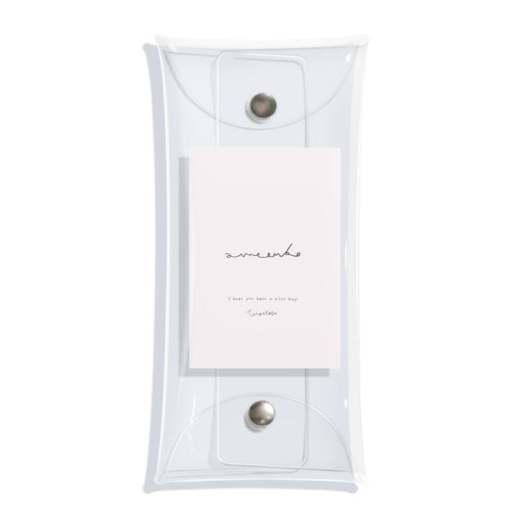 rilybiiのamaenbo*pink Clear Multipurpose Case