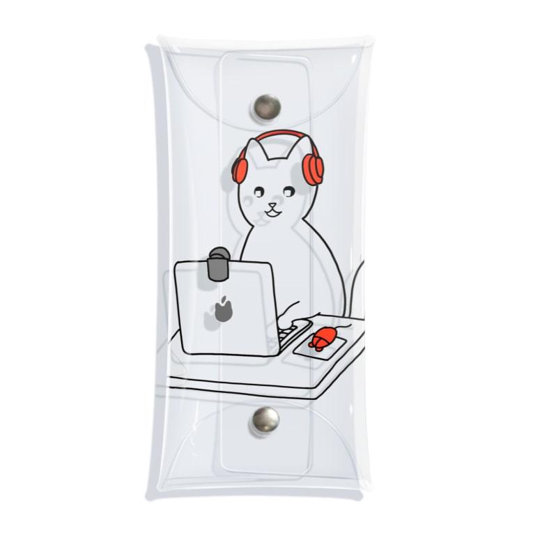kaikai shopの巣ごもり猫とオンラインゲーム Clear Multipurpose Case