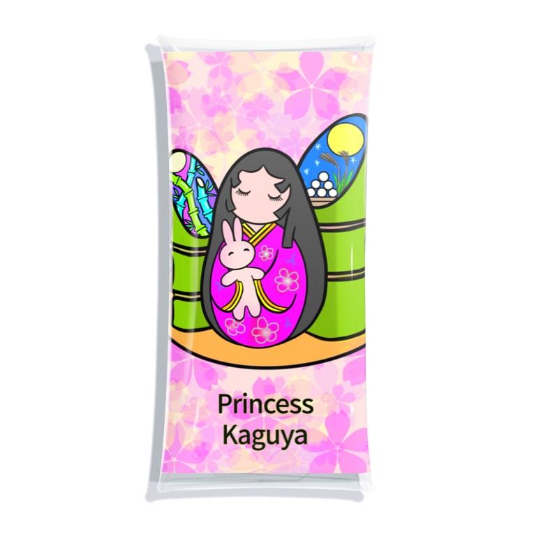 紫キャベツのネイルアート かぐや姫と月ウサギ Clear Multipurpose Case